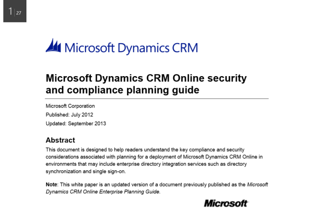 Microsoft crm report writers guide